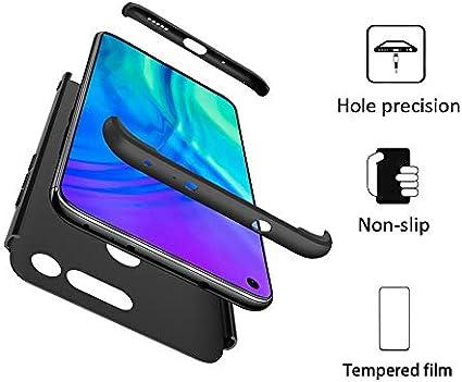 FMPC Funda Compatible con Huawei Honor V20, Caso Carcasa Huawei Honor V20 Slim Fit 360 Grados 3 in 1 Todo Incluido Protección Cover Anti-Rasguño con HD Protector de Pantalla—Negro: Amazon.es: Electrónica