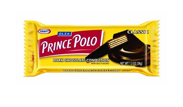 OLZA Prince Polo Classic Dark Chocolate Confection, 32-Count (1.2 ...
