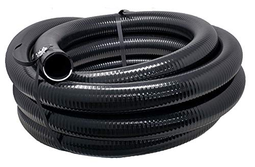 Sealproof Flexible PVC Pipe, Pond Hose, Pool and Spa Tubing, Black, 2 Inch Dia, 25 FT Length