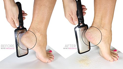 Hard Foot Skin Remover File - BEST MEGA Foot File Pedicure Rasp GENUINE MEGAFILE Professional Heel Care Callus Dry Dead Skin Egg Corn Sander Scrubber Pumice Stone Alt Ped Pedi Feet Grater Add on Item by NYK1 (Image #5)