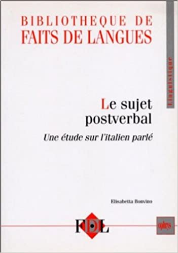 Le sujet postverbal (French Edition) (French) Paperback