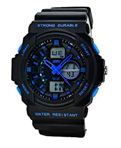 Waterproof Unisex Digital Watch - Dual LED Display Watch / Night Vision Watch / Sports Wrist Watchs