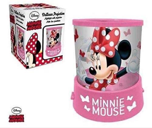 Lamparilla batería DISNEY Minnie Mouse Proyector en color rosa ...