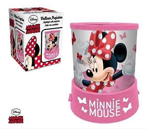 Lamparilla batería DISNEY Minnie Mouse Proyector en color rosa ...