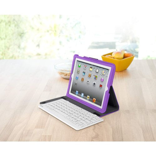 3fcba50df9a Belkin YourType Folio Case with Keyboard for the Apple iPad with Retina  Display (4th Generation) & iPad 3 and iPad 2 - White Keyboard (Purple  Cover): ...