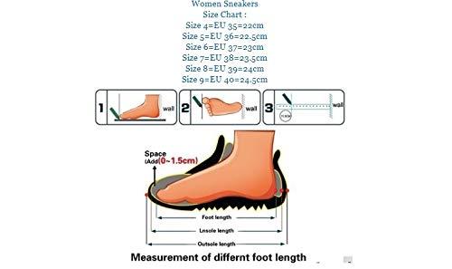 Los Microfibra Cuero De Suaves Casuales Del Deporte Zapatillas Las Deportivos Mujeres Otoño Cordón Remaches Ysfu Zapatos Transpirables Zq1FHZ