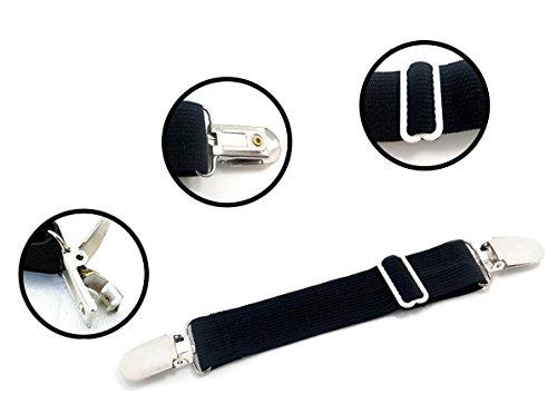 Adjustable Bed Sheet Corner Holders Grippers Suspenders