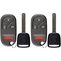 KeylessOption Keyless Entry Car Remote Fob With Uncut High Security T5 Ignition Transponder Key Replacement For OUCG8D-344H-A (Pack of 2)