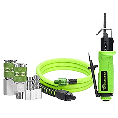 Flexzilla Pro Reciprocating Mini Air Saw Kit, with 3/8? x 6? Whip Hose w/ Ball Swivel, and Flexzilla Pro High Flow Couplers and Plugs - AT8565FZ