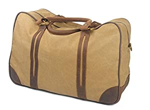 Large Leather Canvas Casual Travel Tote Luggage Weekender Duffel Bag Handbag
