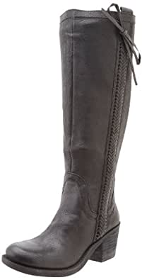 Nine West Women's Thora Riding Boot,Black Leather,5.5 M US