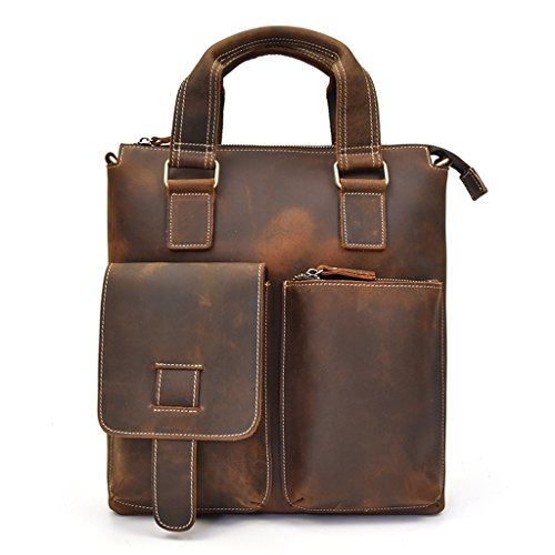 Sucastle Small Leather Man Bag, Backpack Genuine Leather Handbags, Shoulder And Chest, Shoulder Bags, Bag 32x28x8cm Resistant, # 1