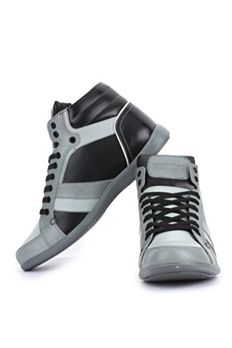 Liberty Heren Canvas Hoge Top Lace-up Casual Mode Sneakers Grijs