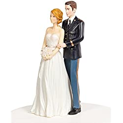 Wedding Collectibles Army Military Wedding Cake Topper - Caucasian Bride and Groom