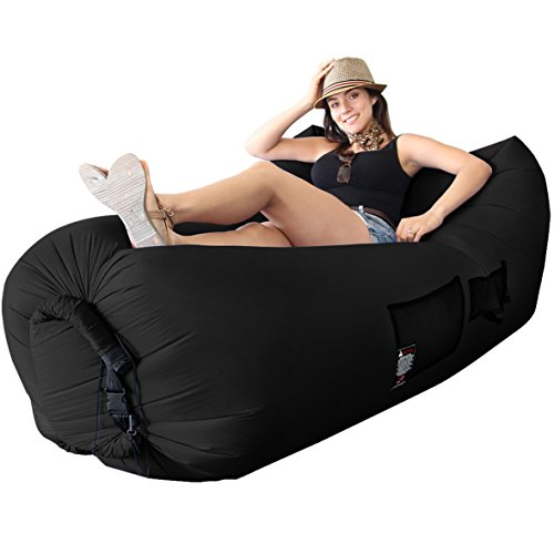 Inflatable Lounger Inflates Seconds Hangout