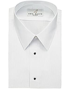 Men's Tuxedo Shirt Poly/Cotton Laydown Collar 1/8 Inch Pleat