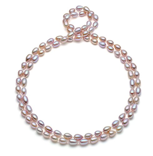 """HinsonGayle AAA Handpicked 8-8.5mm Ultra-Luster Lavender Oval Freshwater Cultured Pearl Rope (48"""")"""