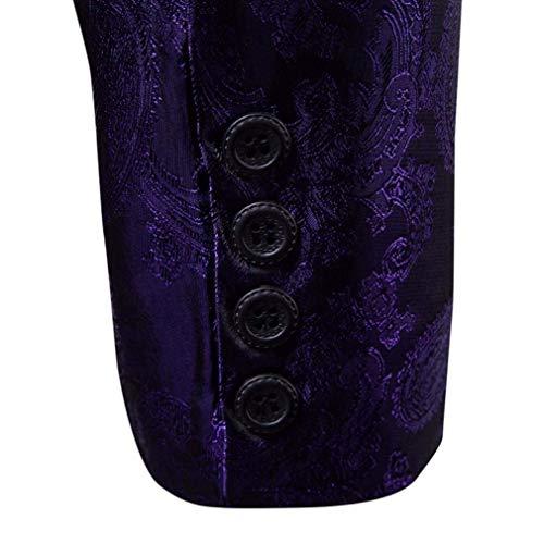 D'affaires Court Slim Classique Col Veste One Hommes Button Costume Cut Vêtements Days All Purple Manteau Tops nB7w48qH