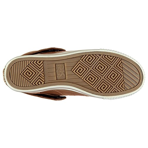 British Knights Roco Fold PU Casual zapatillas deportivas para hombre marrón/BLK Trainers zapatillas deportivas, Chestnut/Black, (UK12) (EU46)