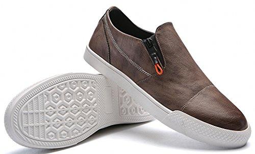 Weweya Modische Herren Schuhe Business Schnürer Halbschuhe Sneakers Khaki