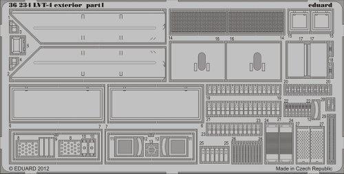 EDU 1:35  PE - LVT-4 Exterior Detail Set (for use with the AFV Club model kit - Eduard 36234