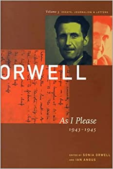 collected essays george orwell amazon Buy george orwell: age like this, 1920-1940 v 1: the collected essays,  journalism and letters (collected essays, journalism and letters george orwell ).