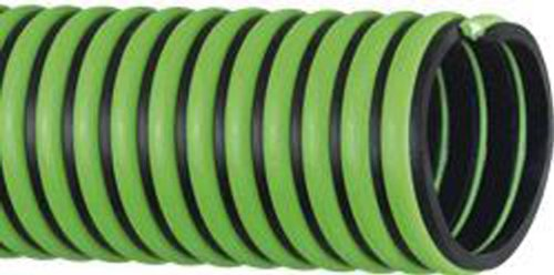Kanaflex 004-0169-0040 EPDM Rubber All Weather Suction and Discharge, Green/Black, 1'' Hose ID, 1.34'' Hose OD, 100' Length