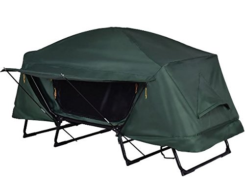 K&A Company Folding Waterproof 1 Person Camping Tent with Carrying Bag 420D Oxford 600D Oxford Green