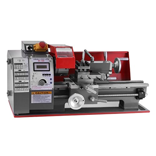 Mophorn Metal Lathe 7 x 12 Inch Precision Mini Lathe 2500 RPM 600W Mini Metal Lathe Variable Speed Milling Benchtop Wood Lathe 25mm Tailstock Sleeve Digital Control System(7 x 12 Inch 600W)