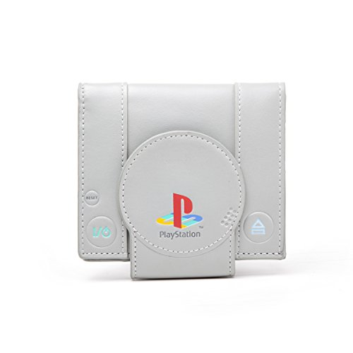 [Sony Playstation One Console Bi-Fold Wallet, Grey (Mw128823sny)] (Game Wallet)