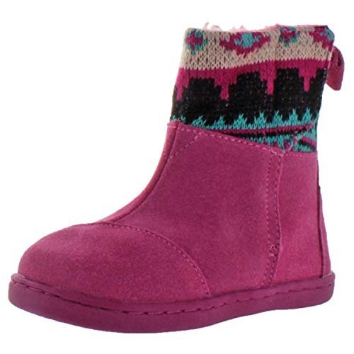 TOMS Nepal Girls Toddler Faux Shearling Winter Boots Pink Size 7 -
