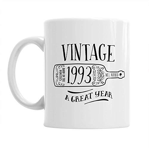 25th Birthday, 25th Birthday Gift, 25th Birthday Gifts For Men, 25th birthday Gifts For Women, 1993 Birthday, Vintage Wine 1993, Coffee Mug