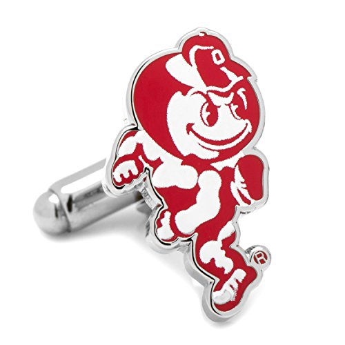 NCAA Ohio State University Brutus Cufflinks, Officially Licensed
