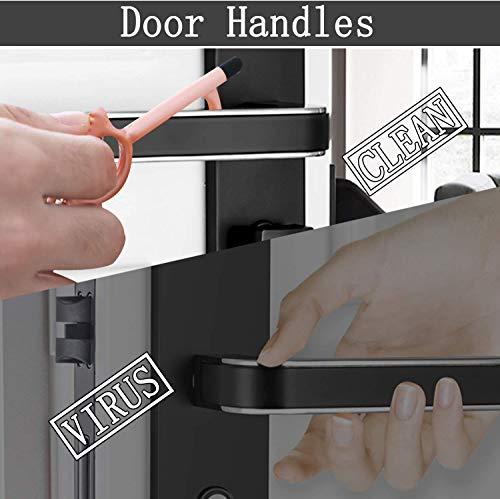 Bola Rung 3Pcs Contactless Door Opener Tool With 3 Retractable Buckles No Touch Door Opening Key Door Handle Opener Keychain Hygiene Door Opener
