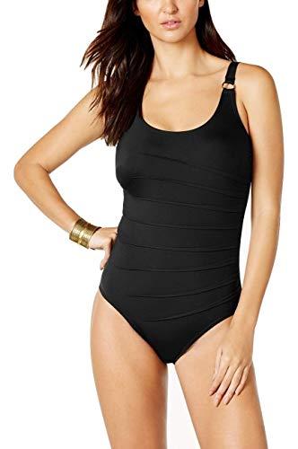 (Calvin Klein Starburst One-Piece Swimsuit Black Size 10)