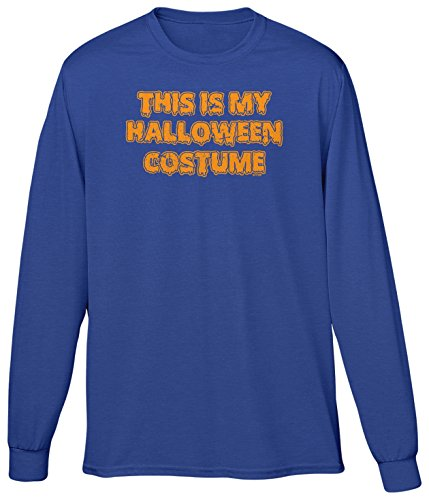 House Md Halloween Costume (Blittzen Mens LS This Is My Halloween Costume, M, Royal Blue)