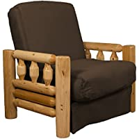 Rocky Mountain Perfect Sit & Sleep Pocketed Coil Inner Spring Pillow Top Chair Sleeper Child-size Bed, Chair-size, Microfiber Suede Chocolate Brown Upholstery