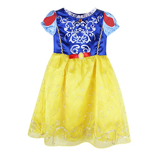 - SMALLE_Clothing Girls Princess Dresses,SMALLE◕‿◕ Baby Girls Princess Bling Coronation Gown Deluxe Dresses-3 Styles Yellow