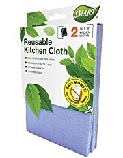Smart 10034 Reusable Kitchen Cleaning Cloth, 14X10-Inch, 2-Pack