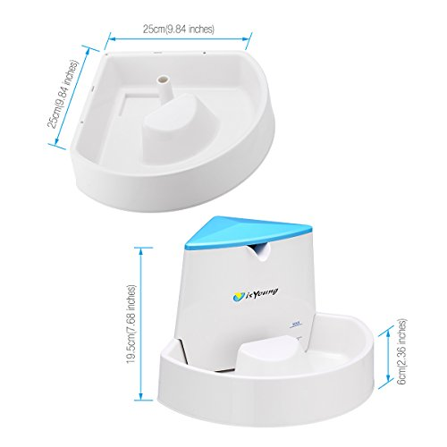 Dog Fountain isYoung Pet Fountain Automatic Water Dispenser for Dogs and Cats, Healthy and Hygienic Dog Fountain