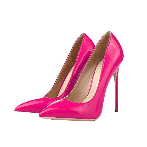 Mode EU 12cm UK 4 Noir Discothèque Chaussures Femmes Mariage pour 12CM Red Hauts 36 Travail avec Chaussures Femme De Talons Court Hauteur Sexy 1pIqqH