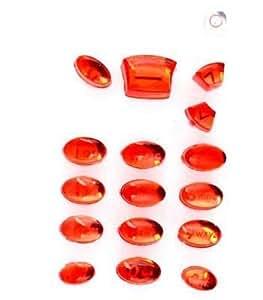 Teclado para Nokia 5110 CRYSTAL, color rojo