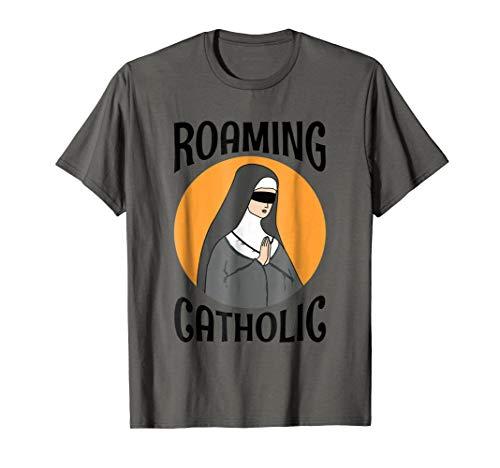 Funny Joke Roaming Catholic Blindfolded Nun T Shirt Tee
