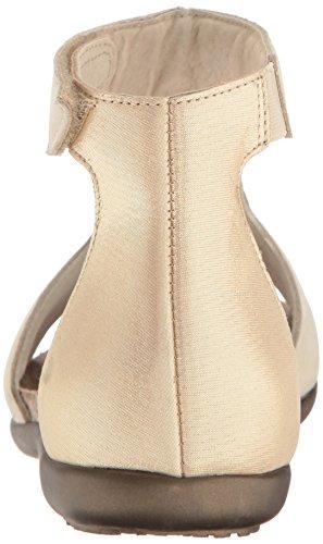 Flat Beige Leather Nala Naot Threads Nubuck Women's Sandal Gold fBTfq7wS