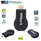 1080P HDMI Adapter Wireless Display, PTView Miracast Dongle, 2.4G Streaming Media Share Player, Mirroring Receiver TV Stick, Airplay Dina For iPhone, iPad, MacBook, Samsung, LG, Android, Smart Phones