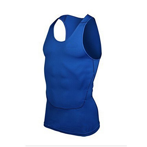 Nanxson(TM) Man Compression Tank Top Moisture Wicking Quick Dry YDSM0001 (XXL, blue)