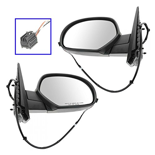 Suburban Chrome Manual Mirror - Side View Mirrors Power Heated Chrome Cap Left & Right Pair Set for Chevy GMC