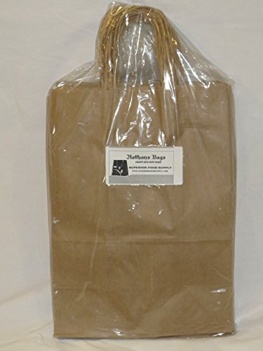 Brown Paper Bag With Handle 10x5x13
