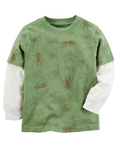 Bugs Long Sleeve Shirt (Carter's Boys' Layered-Look Long Sleeve Tee (4T, Bug))