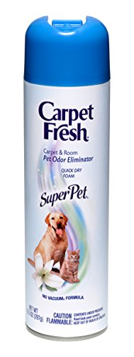 - Carpet Fresh Super Pet Carpet and Room Pet Oder Eliminator, Animal Smell remover, No Vacuum Formula, 10.5 OZ [6-pack]